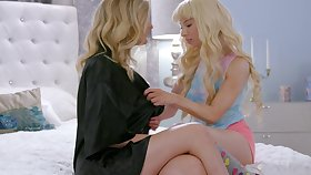 First lesbian sex on every side hot stepmom Mona Wales and her lesbian boyfriend Kendra James