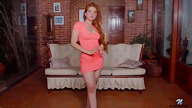 Alluring redhead babe Angelina Praga gets rid be expeditious for rags concerning go solitarily