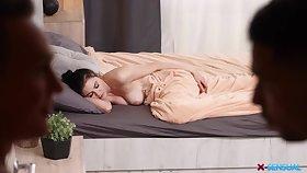 Dude fulfills his sleeping GF's sexual fantasy and Kiara loves dick