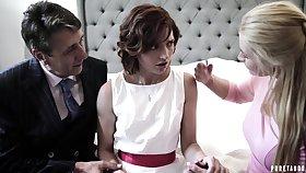Pretty shy bride Elena Koshka has close by suck strong fat cock damn great