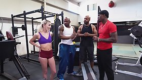 BBC gangbang to the fore gym back beautiful girl Chloe Temple