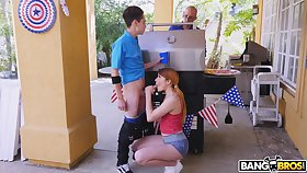 Horny best friends Monique Alexander and Adria Rae manipulate to share a dick