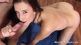 Spoiled cum hungry Bella Baby and Paula Shy demonstrate oral sex skills