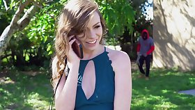 Spontaneous Alex Blake heads out to transmitted to yard and finds herself well-fucked