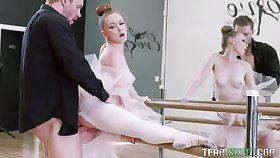 Strict dance teacher punishes too noxious ballerina Athena Rayne with wild sex
