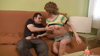 Amber C. and Angel D adore threesome with their horny neighbor