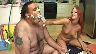Hardcore food fetish sex and a cum shot with redhead Misty Magenta