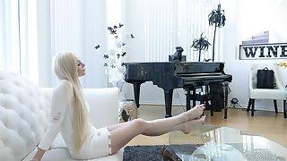 High class European blonde MILF Natasha James anally satisfied