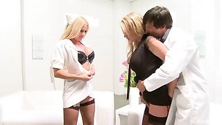 Paige Ashley can't wait to share a cumshot in a wild FFM threesome